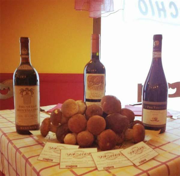 degustazione porcini e vini pregiati